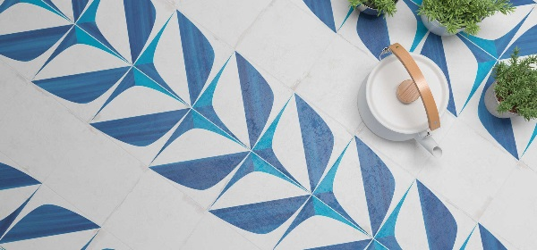 WOW DESIGN- Blanc Bleu Leaf